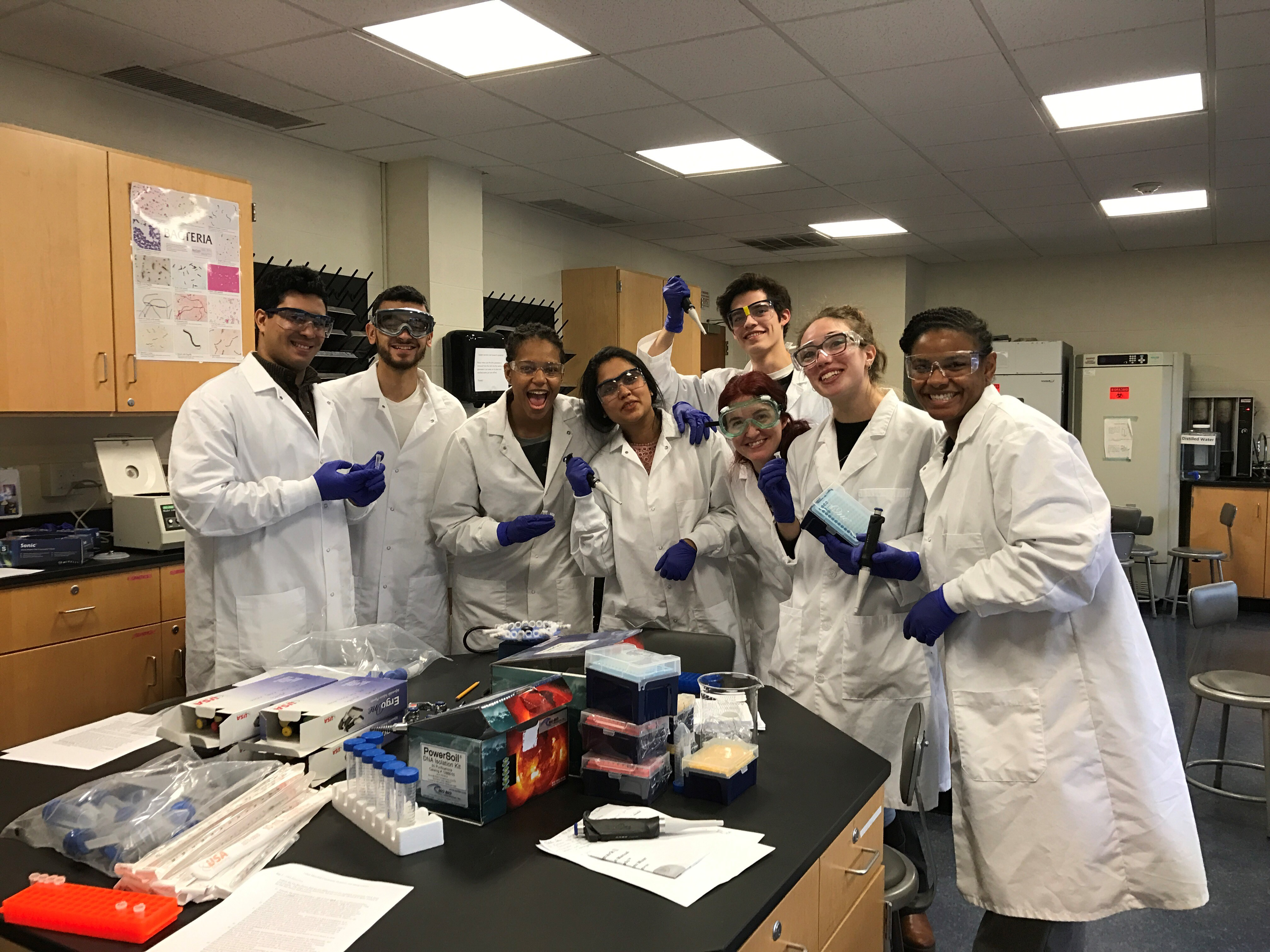 Dr. Smyth with Class in Lab